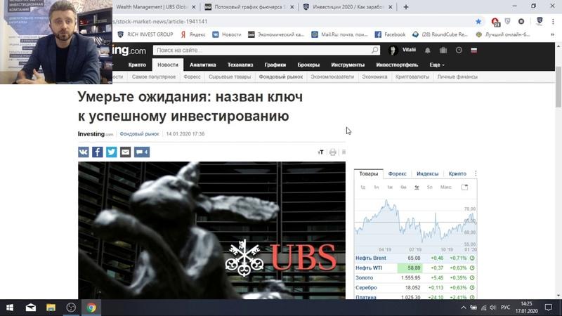Главный Ключ к успешному Инвестированию в 2020 году Рекомендации UBS Куда вкладывать деньги