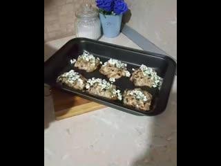 Котлеты куриные с грибами,в духовке