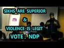 Jagmeet Singh sitting with Sikhs talking about their Superiority and violence on others