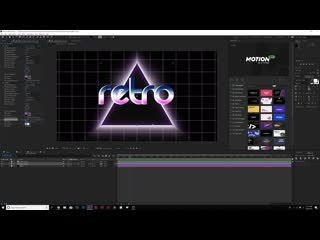 """5 retro motion graphic effects """"80s"""" intro after effects tutorial"""
