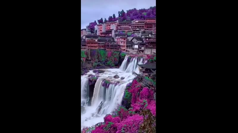 Китай Какие красивые места в китае засмотришься великолепные водопады разнообразные яркие и сочные цветы и это все китай молодцы