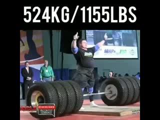 Самый сильный человек планеты Жидрунас Савицкас 524 кг
