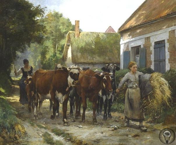 Сцены из сельской жизни Жюльена Дюпре.
