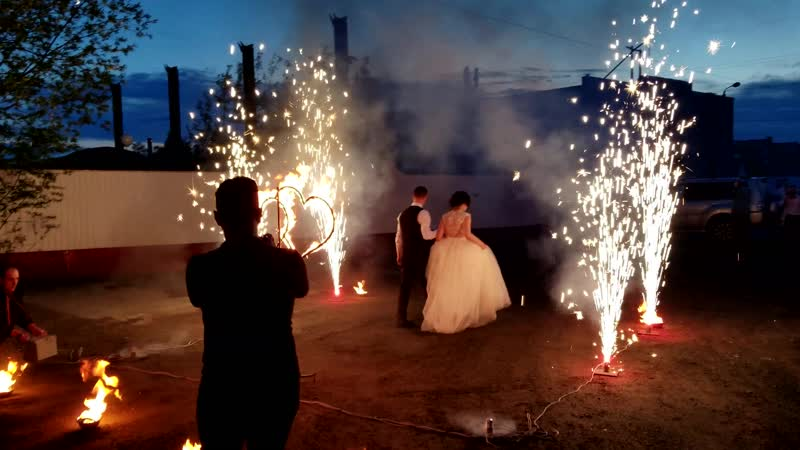 Пиротехническое шоу Огненное на свадьбу Шоу проект Самум Нижневартовск Мегион Радужный Стрежевой Сургут