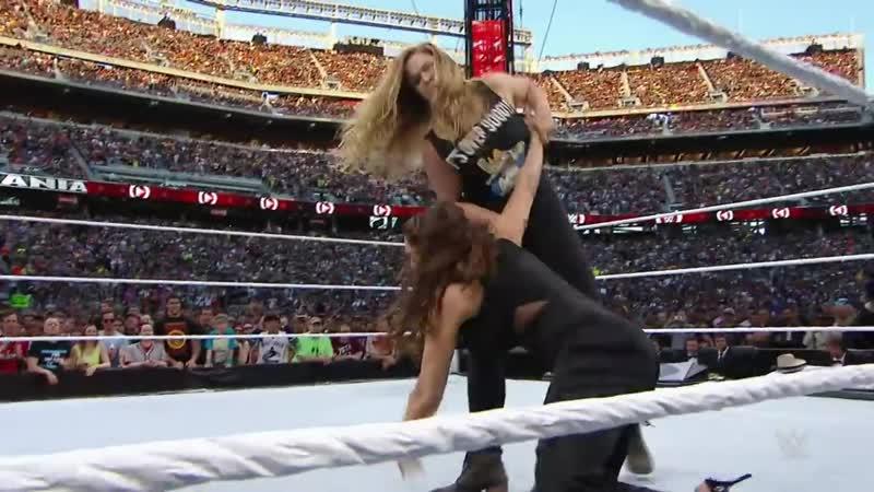 Stephanie McMahon tangles with Ronda Rousey WrestleMania 31