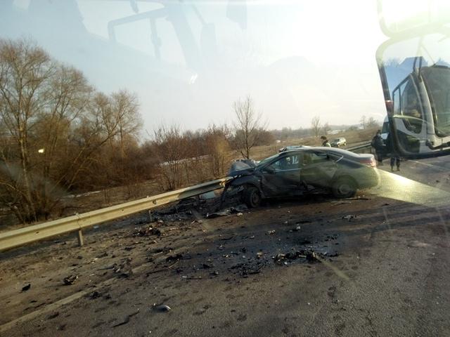 Авария возле села  Дальняя Игуменка.
