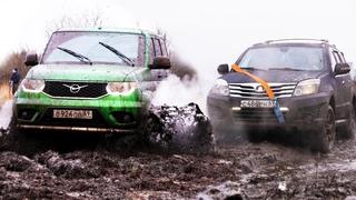 Точка в споре!!! Решающая Битва Ховера и Патриота в грязи на бездорожье! Новый УАЗ. Offroad  2020