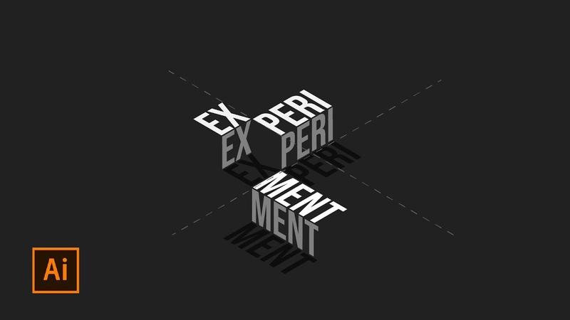 Isometric Text Effect | Adobe Illustrator Tutorial