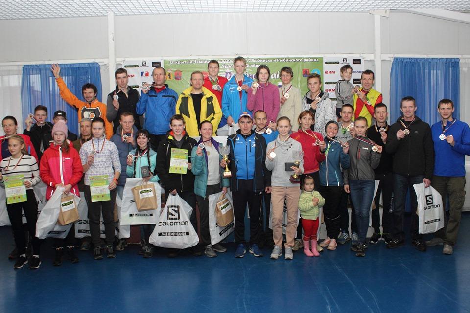 Фотография победителей трейлового полумарафона в Дёмино 2019. Забег в Рыбинском р-не Ярославской области