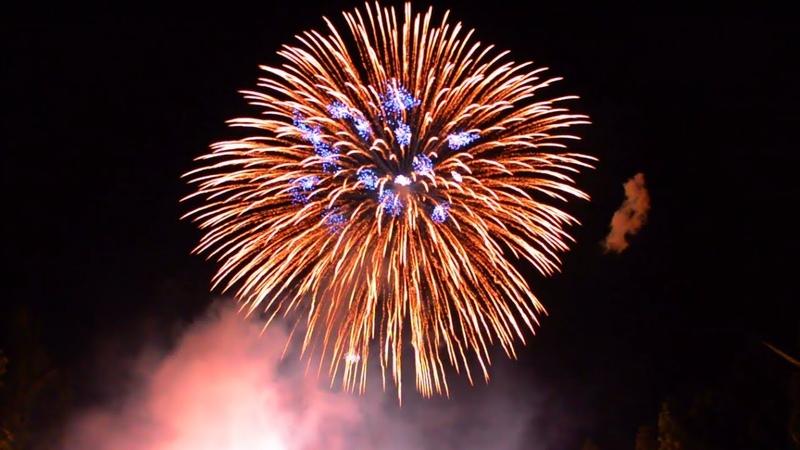 屶打谷ナイアガラ 正二尺玉 同時打揚 8142019 Large Shell 24 Inch Fireworks.