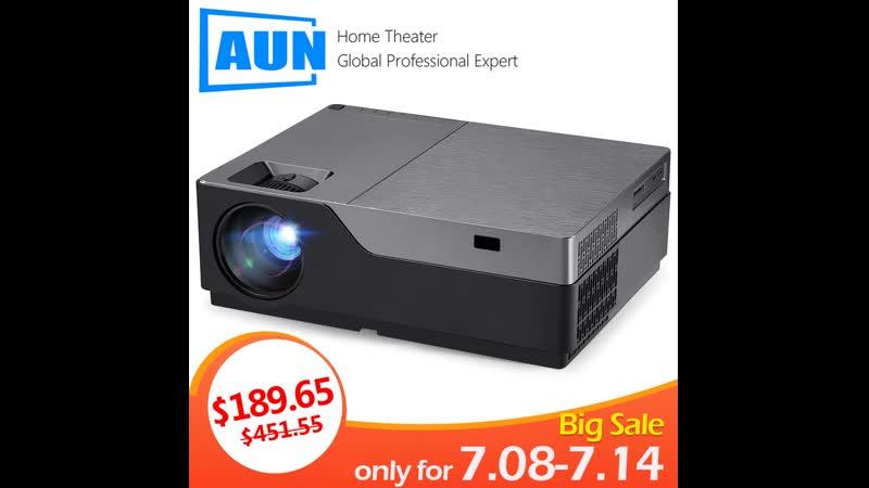 AUN проектор Full HD M18UP, 1920x1080 Разрешение