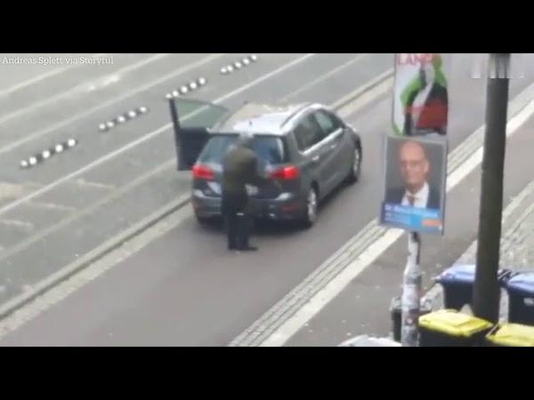 Бойня в Германии: Стрелок из немецкого Галле. Слабонервным не Смотреть 18
