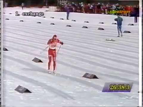 1993 03 09 Кубок мира Лиллехаммер лыжные гонки 4x10 км эстафета мужчины