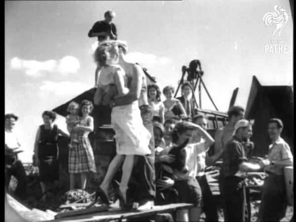 Four Men A Girl And 'ken Tooki' 1952