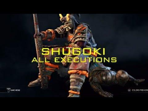 For Honor all shugoki executions