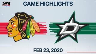 NHL Highlights   Blackhawks vs. Stars – Feb. 23, 2020