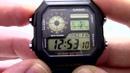 Часы Casio Illuminator AE 1200WH 1B Инструкция как настроить от