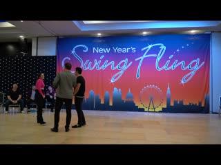 New Years Swing Fling - Jordan and Irina dance at New Years Swing Fling 2019 _