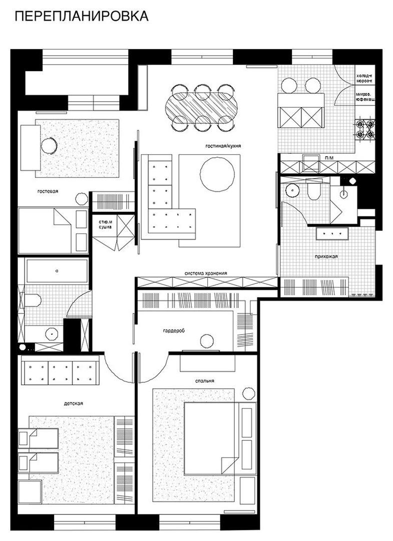 Светлая современная квартира в стиле уютный минимализм в Санкт-Петербурге от студии JUICY FLAT || 02
