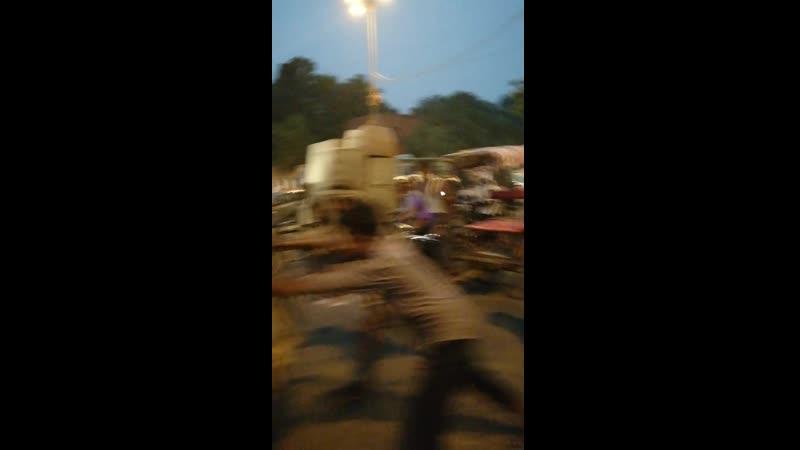 Индия Дели Переходим дороги а точнее бежим