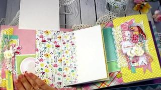 """Альбом ручной работы """"Аделина""""  Альбомы ручной работы на заказ  Подарок  Скрапбукинг  Handmade"""