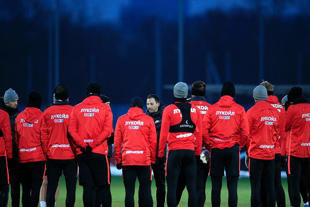 Тренировка «Спартака» перед последним матчем года (Видео)