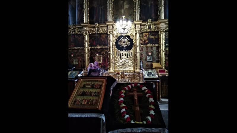 Неделя Крестопоклонная Введенский собор