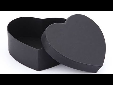 How To Make Heart Shaped Paper Gift Box Heart Box Paper Craft DIY