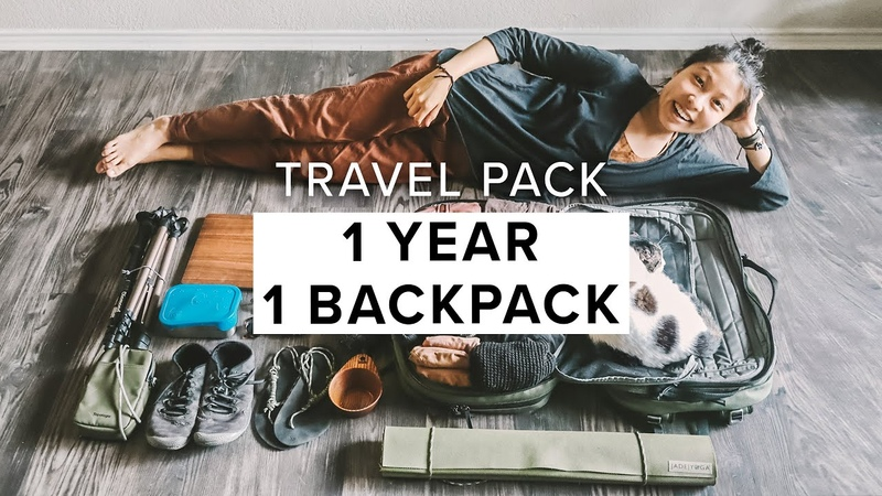 Living out of a Backpack for 1 Year EXTREME MINIMALIST PACKING