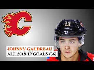 Johnny Gaudreau. All 36 Goals 18/19 NHL Season