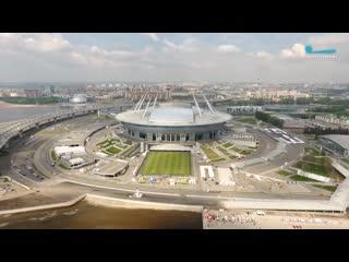 Стадион на Крестовском с высоты