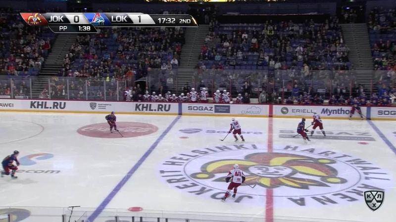 Моменты из матчей КХЛ сезона 17/18/19 • Гол. 1:1. Ессе Йоэнсуу (Йокерит) сравнял счёт, отличившись в большинстве 02.10