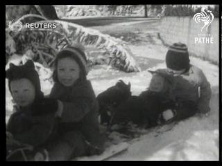 USA: Unprecedented California snowstorm (1949)