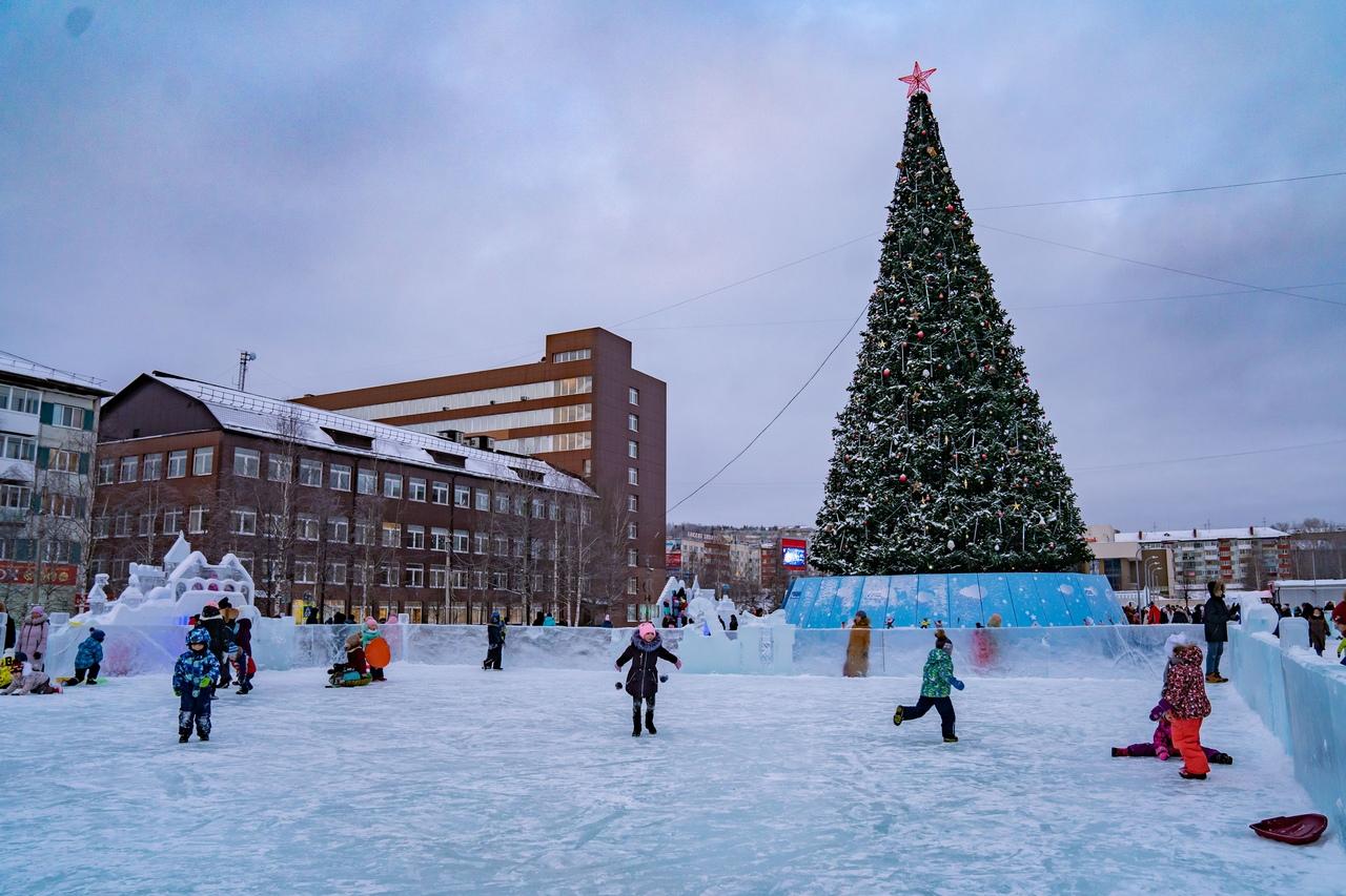 короткие фото городской новогодней елки в г мелеуз многолетнее растение