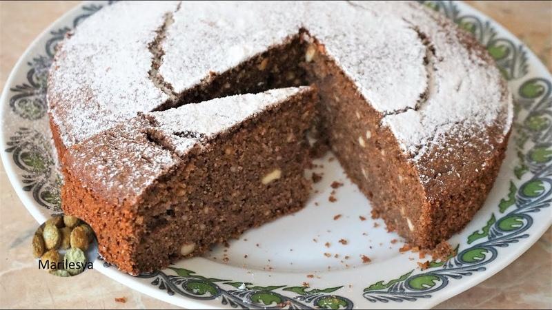 Шоколадный Творожный Манник простая выпечка к чаю Semolina Curd Cake