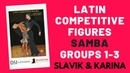 Samba Groups 1-3 Slavik Karina Latin Competitive Figures| Ballroom Mastery TV