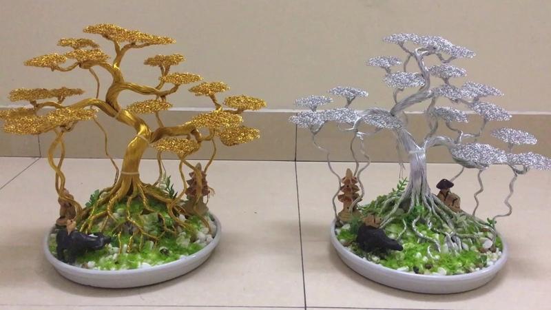 Bonsai handmade dây đông | cây dây đồng đẹp | cặp đa vàng bạc tài lộc | bonsai handmade ha noi .