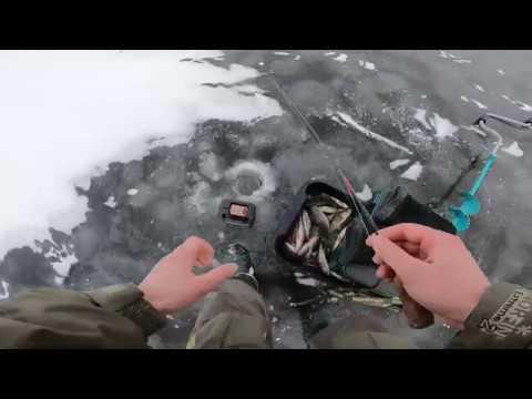 Ловля окуня на блесну на Ладоге Зимняя рыбалка