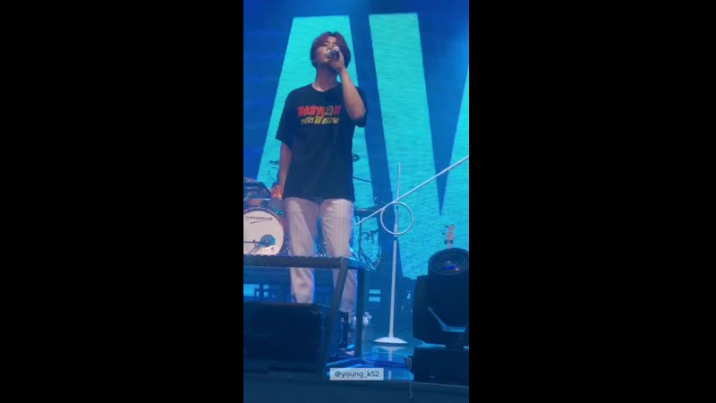 [FANCAM] 190908 Man in a Mobie by MyDay YoungK DAY6 World Tour Gravity in Busan D-2