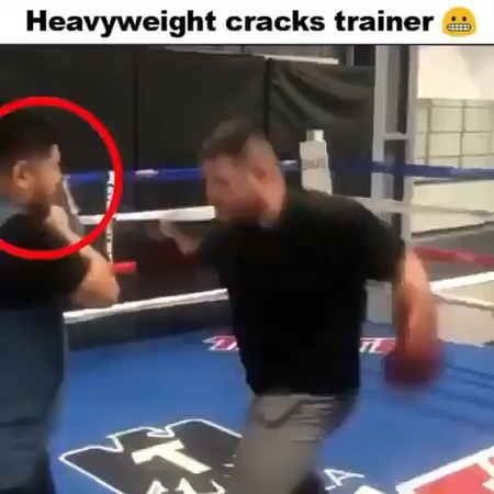 @raw life extra on Instagram Damn what a chin the trainer has boxing mma ufc mannypacquiao pacquiao pacquiaothurman dazn anth