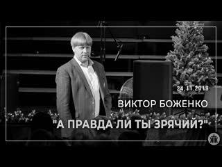 "Виктор Боженко ""А правда ли ты зрячий"""