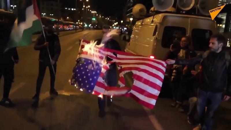 Πορεία διαμαρτυρίας στην Αθήνα ενάντια στη συμφωνία με τις ΗΠΑ