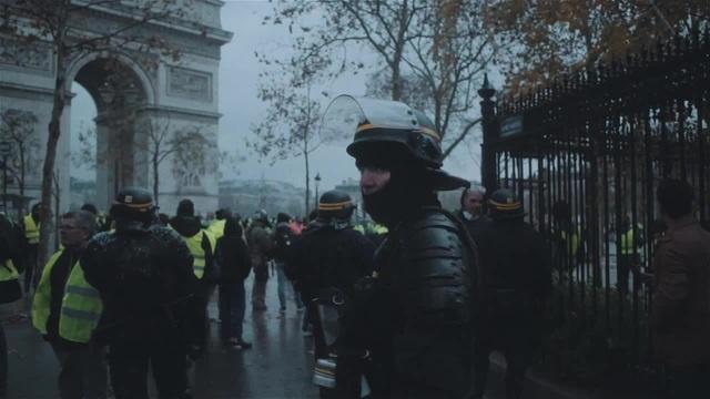 Paris Yellow Vest protests police view