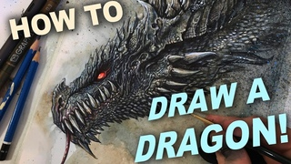 HOW TO DRAW A DRAGON MIXED MEDIA TUTORIAL