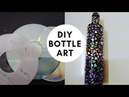 DIY Glass Bottle Craft | How To Cut DVD | Craft for Beginners | Home Decor Ideas | 16