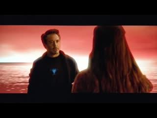 Тони Старк в камне души - Мстители 4 (вырезанная сцена)