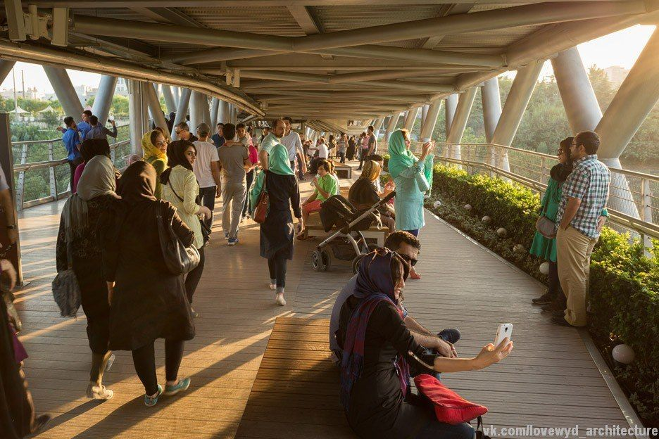 Leila Araghian's Tabiat Bridge creates new public space for pedestrians in Tehran by Iranian architect Leila Araghian