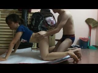 Chịch em hotgirl đang tập yoga trong phòng trọ, домашнее порно, йога секс, asian, азиатка, вьетнамка, vietnamese, amateur, yoga