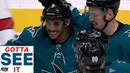 GOTTA SEE IT Evander Kane Records Hat Trick Against Carolina Hurricanes In First Period