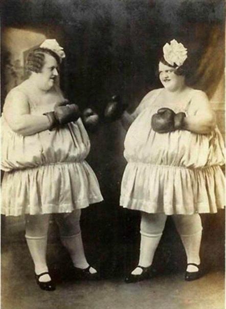Беспощадный винтажный женский бокс. Сестры Карлсон.